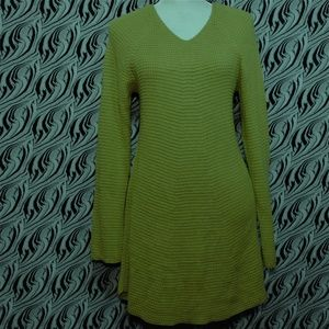 Style Co Olive Moss Long Sleeve Knit Sweater M